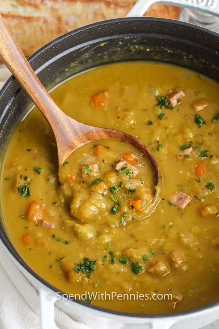 pot full of Split Pea Soup